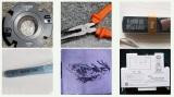 fiber laser marking machine marking samples on metal