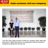 India customer visit our company
