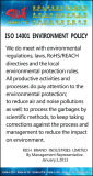 ISO14001 ENVIRONMENT POLICY