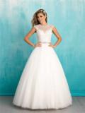10% off Capped Sleeves Jewel Neckline Floor Length Wedding Gown (Dream-100018)