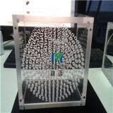 7mm thickness acrylic screwed box for drilling with small holes and magnets for lid