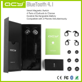 QY12 magnetic earphone black gift box packaging