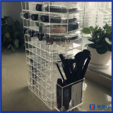 hotsell clear acrylic rotating cosmetic lipstick display holder