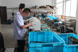 Assembly workshop of wire-stripping machine