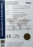 Reflow oven CE Certificates