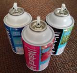 Metering air refreshener spray