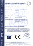 CE certificate of walk-behind scrubber