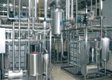 milk processing line application: UHT, sanitary valves, heat exchanger, tanks