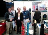 Photoes with customer in Bauma show