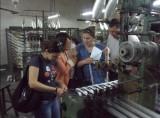 customer in manufacturing warehouse for fiberglass tape