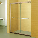 Luxury roos golden frame bathroom shower screen
