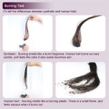 How to tell human hair with synthetic hair?
