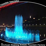 River Floating Running Fountain Waterscape