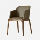 (SD1014) Modern Hotel Furniture Wood Frame Leather Upholstery Restaurant Dining Chair
