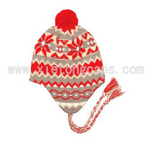Jacquard Knitted Hat With Ear Flaps
