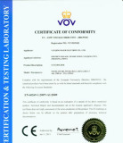 CE CERTIFICATE of FUSE HOLDER