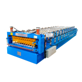 Russia Style double deck with corrugated and IBR roll forming machine