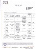 SGS Test Report Content 1