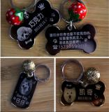 Low price sale anodized aluminum dog tag with metal printing logo