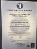 CERTIFICATE of REGISTRATION, QUALITY MANAGEMENT SYSTEM