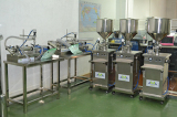 Semi auto filling machine in our showroom