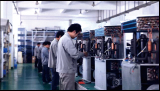Industrial water chiller is under production line
