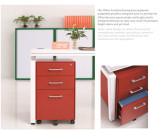 Steel mobile filing cabinet office furniture with 5 wheels /pedestal