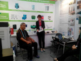 Margaret happly & free talk with clients for our products