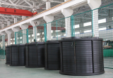 Round mold curing line