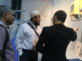 Kevin Ou introducing our vet x-ray system at Arab Health 2014