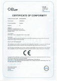 CE certificate for K series