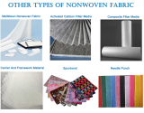 Types filter media nonwoven fabric