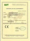 Vehicle MONITOR CE Certificate