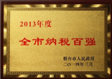 Honorary certificate of Top Tax Enterprises