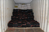 Loading container for wheelbarrow tires and tubes, wheels