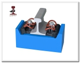W Type Rail Fastening System for Railroad Constrction