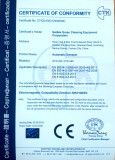CE certificate of Sweeper