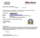 SGS audited report