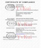 UL fire door certificate