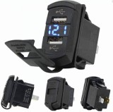 2 In1 Multi-Function Rocker Style with LED Digital Voltmeter 4.2A Dual USB Car Charger