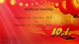 China National Holiday Notice