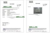 Latex Foam Test Certificate