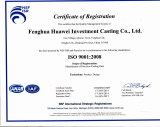 ISO9001: 2008 certificate of Huawei