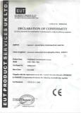 CE certificate of temper glass