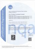 New Wisdom Ltd has ISO9001:18000 approval
