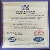 ISO9001:2008 Standard / GB/T 19001-2008 Quality Management System Cerfiticate