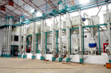 our 100 tons /d rice processing equipment in India