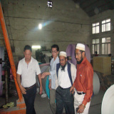Saudi arab client visiting our paper mill