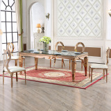 Hot sale Stainless Steel Dining Table and Chairs for Wedding