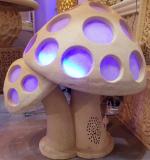 Sandstone Sculpture Mushroom Shape Lighting Lantern With Loudspeaker
